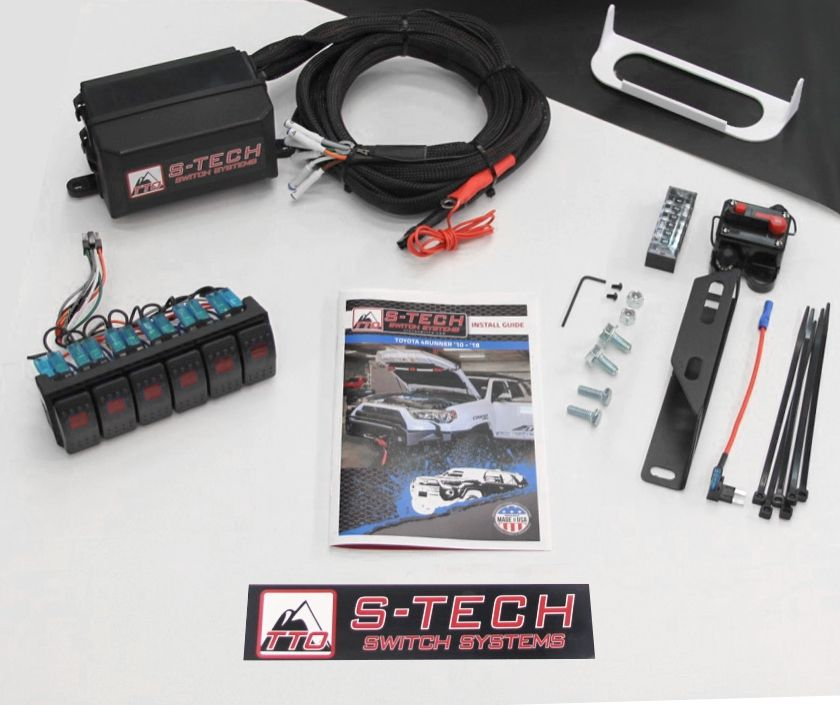 Blue LED Rockers and Plug//Play custom wire harness S-TECH Switch System for Jeep JK with SIX BLUE 30A circuits