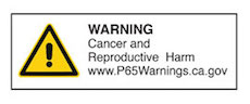 Warning Cancer and Reproductive Harm
